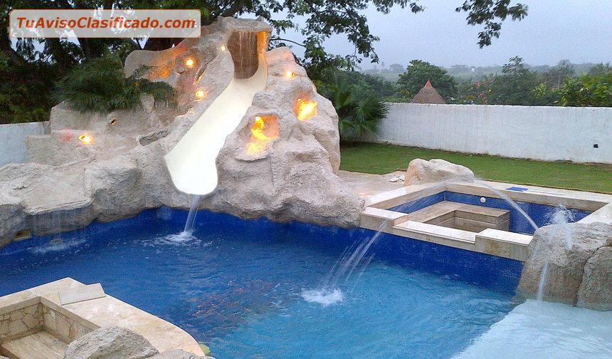 Fuentes para piscinas great construccin de piscinas - Fuentes para piscinas ...