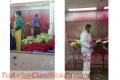 Cabina de pintura para pintar flores